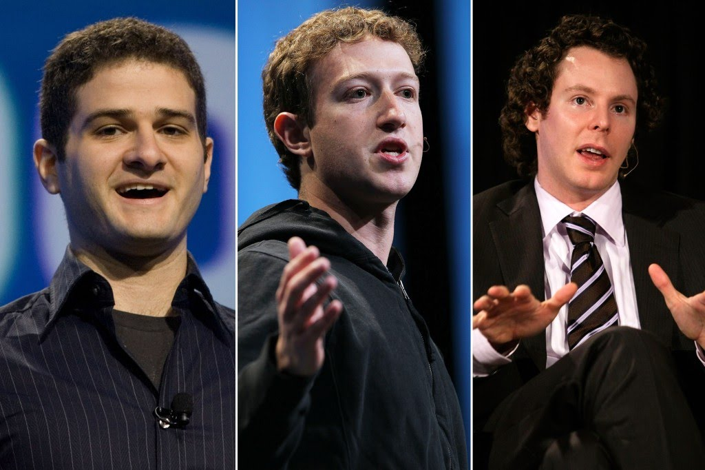 Dustin Moskovitz, Mark Zuckerberg, and Sean Parker were roommates in the early days of Facebook.
