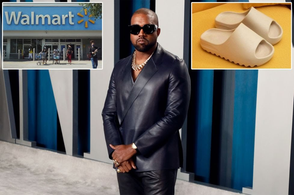 Billionaire rapper Kanye West's complaint, filed Thursday in California court in Los Angeles, claims the giant discounter has been selling fake versions of his bizarre-looking Foam Runner slides.